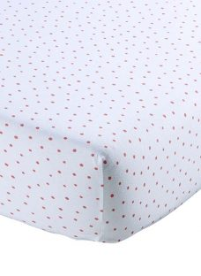 Christy Speckle Print Cotton Jersey Fitted Sheet
