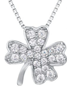 Jools by Jenny Brown Cubic Zirconia Clover Necklace