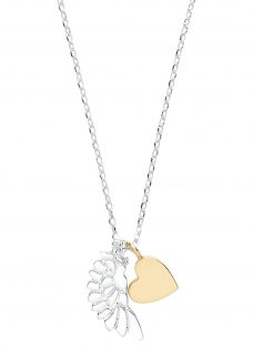 Estella Bartlett Wing and Heart Pendant Necklace