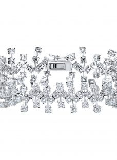 Jools by Jenny Brown Abstract Cubic Zirconia Bracelet