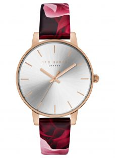 Ted Baker TE15162008 Women's Floral Leather Strap Watch