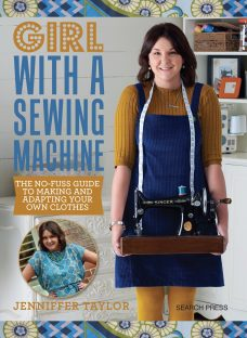 Search Press Girl With a Sewing Machine Book by Jennifer Taylor