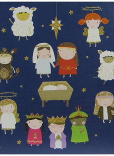 Woodmansterne Flittered Nativity Charity Christmas Cards