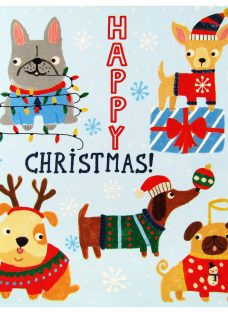 Woodmansterne Flittered Dogs Charity Christmas Cards