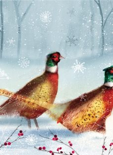 Almanac Bright Pheasants Charity Christmas Cards