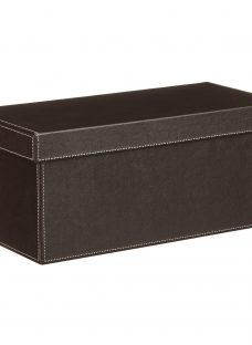 John Lewis Faux Leather Fixed Side Box with Lid