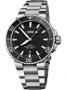 Oris 01 733 7730 4154-07 8 24 05PEB Men's Aquis Automatic Date Bracelet Strap Watch