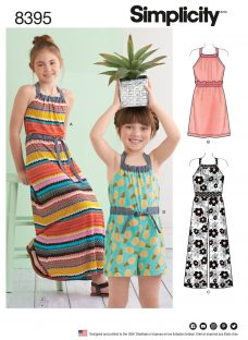 Simplicity Children's Dress and Playsuit Sewing Pattern
