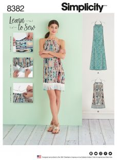 Simplicity Women's Learn To Sew Dress Sewing Pattern