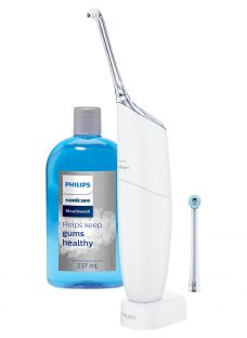 Philips Sonicare HX8472/11 AirFloss Pro Dental Flosser with Mouth Wash