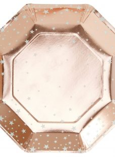 Ginger Ray Rose Gold Star Plate