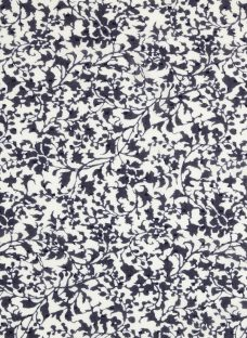 Kokka Blurred Leaf Print Dobby Fabric