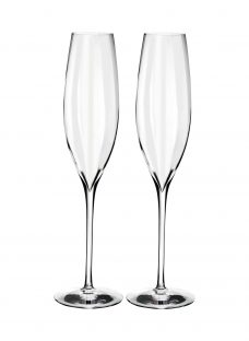 Waterford Crystal Elegance Optic Champagne Flutes