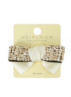 John Lewis Heirloom Collection Girls' Sequin Bow