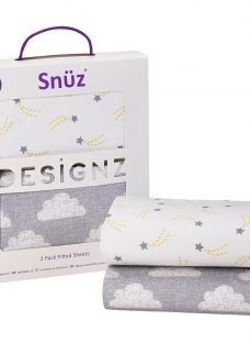 Snüz Baby Cloud Nine Print Bedside Crib Fitted Sheet