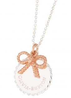 Olivia Burton Coin and Bow Pendant Necklace