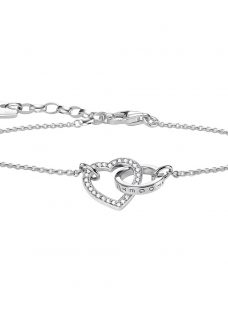 Thomas Sabo Glam & Soul Together Forever Cubic Zirconia Heart and Ring Chain Bracelet