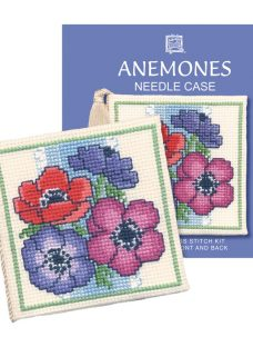 Textile Heritage Anenomes Needle Case Counted Cross Stitch Kit