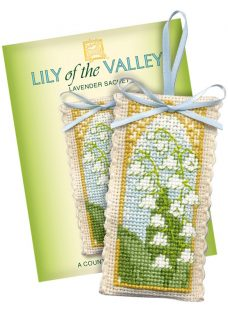 Textile Heritage Lily The Valley Sachet Counted Cross Stitch Kit