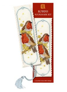 Textile Heritage Robin Bookmark Counted Cross Stitch Kit