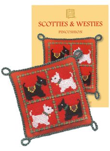 Textile Heritage Scotties & Westies Cushion Counted Cross Stitch Kit