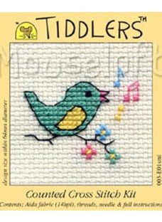 Mouseloft Tiddlers Song Bird Counted Cross Stitch Kit