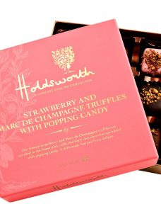 Holdsworth Marc de Champagne and Strawberry Truffles with Popping Candy