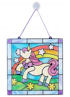 Melissa & Doug Stained Glass Unicorn Craft Set