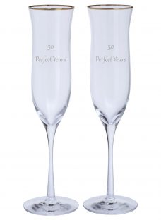 Dartington Crystal Personalised Celebration Champagne Flutes