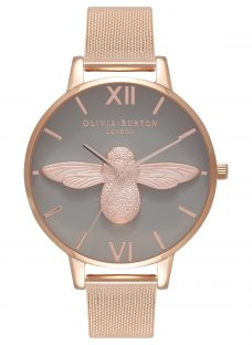Olivia Burton OB16AM117 Women's 3D Bee Mesh Bracelet Strap Watch