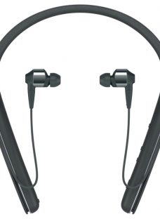 Sony WI-1000X Noise Cancelling Wireless Bluetooth NFC High Resolution Audio In-Ear Headphones with Mic/Remote & Neckband