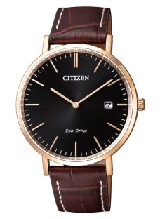 Citizen Men's Eco-Drive Date Leather Strap Watch