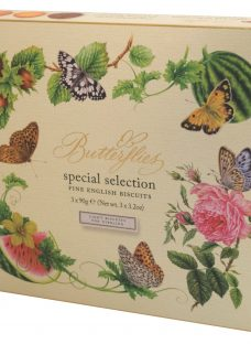 Artisan Biscuits Butterflies Large Biscuit Box