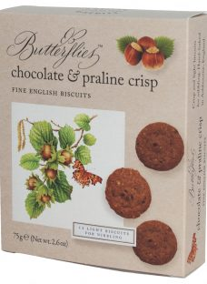 Artisan Biscuits Butterflies Chocolate & Praline Crisp Biscuits