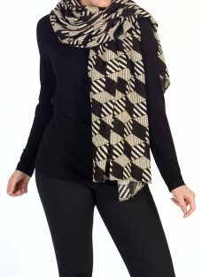 Chesca Abstract Striped Scarf