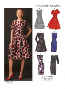 Vogue Applique Fit-And-Flare Dresses Sewing Pattern