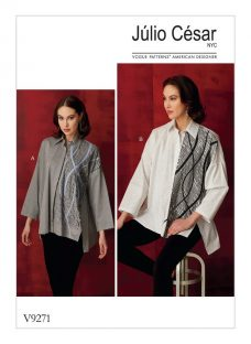 Vogue Lined Contrast Applique Shirt Sewing Pattern