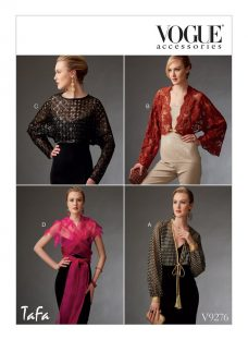 Vogue Accessories Shrugs and Capelet Sewing Pattern