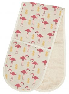 Fenella Smith Flamingo and Pineapple Double Oven Glove