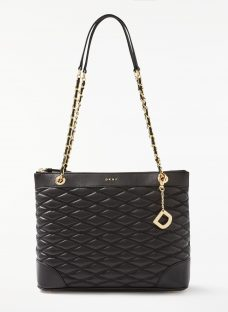 DKNY Nappa Leather Quilted Medium Tote Bag