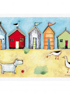 Woodmansterne Seaside Huts Greeting Card