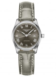 Longines L22574713 Women's Master Collection Automatic Date Leather Strap Watch