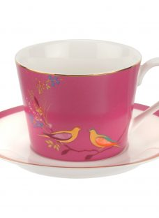 Sara Miller Chelsea Collection Birds Cup and Saucer