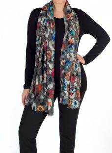Chesca Abstract Wool Silk Scarf