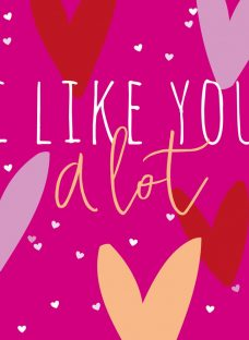 Belly Button Designs I Like You A Lot Valentines Day Card