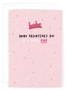 Hotchpotch Babe Pin Badge Valentine's Day Card