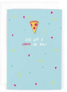 Hotchpotch Pizza Pin Badge Valentine's Day Card