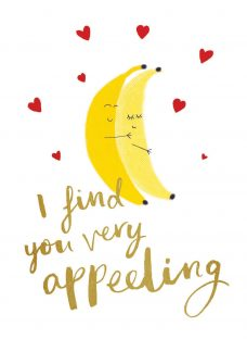 Woodmansterne Bananas For You Valentine's Day Card