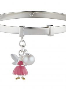 Molly Brown London Sterling Silver Fairy Wish Bangle