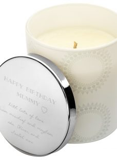 Under the Rose Personalised Candle With Engraved Lid